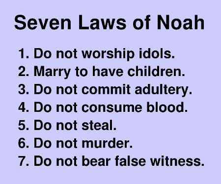where are the noahide laws in the bible